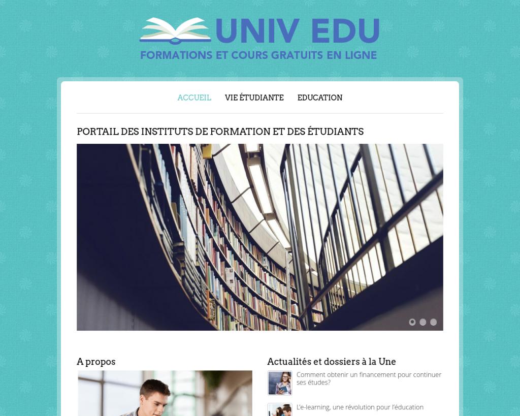 Un site sur l'éducation dédié aux étudiants et aux professionnels