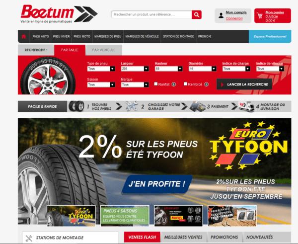 Beetum.com, le spécialiste dans la vente de pneus