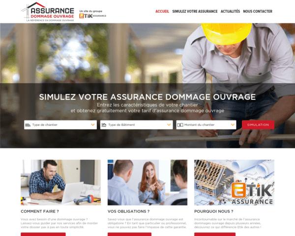 Un cabinet et un site spécialisé dans l'assurance dommage ouvrage