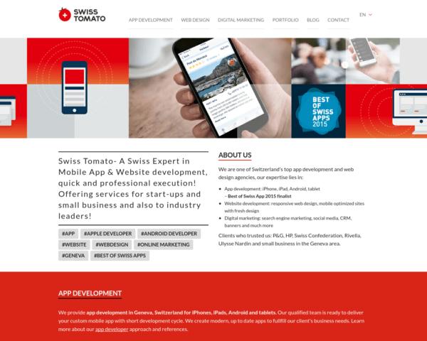 Une seule équipe dédiée à l'application et au Web design